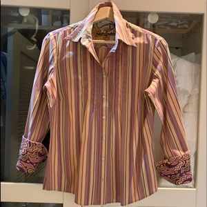 Robert Graham embroidered shirt